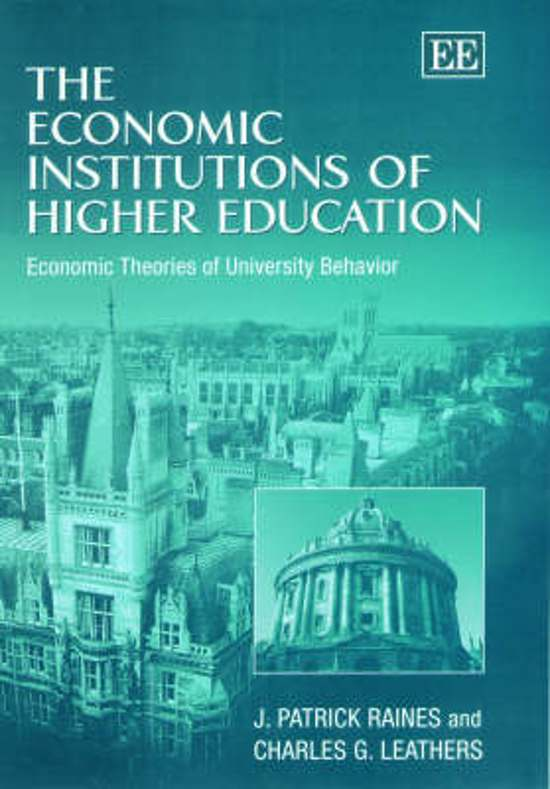 The Economic Institutions of Higher Education