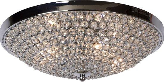 Plafonniere Met Kristallen : Bol lucide persis plafonniere rond Ø cm chroom kristal