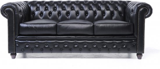 Chesterfield Original Brighton 3-zits Modern Zwart