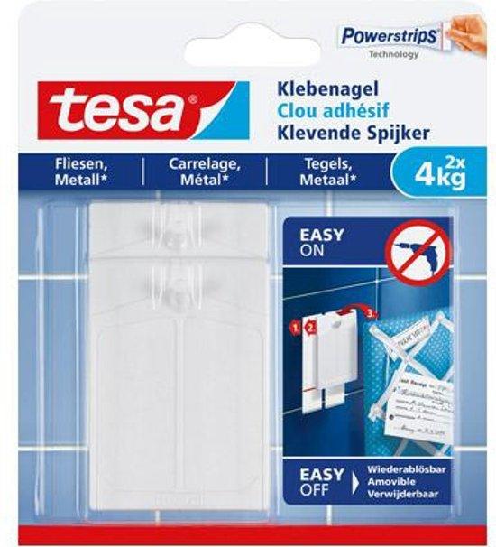 Tesa klevende spijker voor metaal en tegels 77766