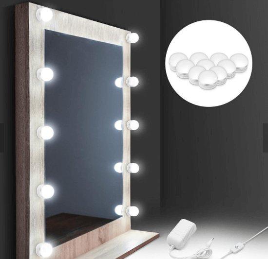 Bizz Light® - Hollywood Spiegel lampen – Make up spiegel LED verlichting – Theaterspiegel LED verlichting – incl. adapter, dimmer