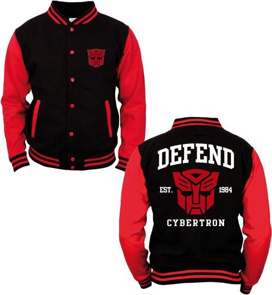 Cybertron Zwart Transformers Jas Varsity Defend S gIn5q5aw