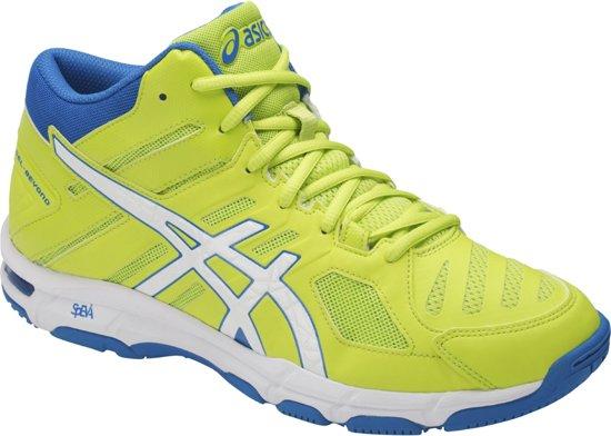 asics gel beyond 4 mt blauw oranje indoor schoenen dames
