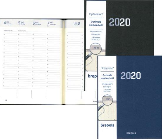Afbeelding van Brepols Bureau Agenda 2020-A4 Formaat-Optivision Stark • Willekeurige kleur BLAUW of ZWART