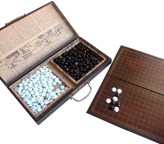 Chinees Go Spel in houten doos Zwart
