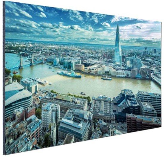 Skyline Londen bij dag Aluminium 30x20 cm - Foto print op Aluminium (metaal wanddecoratie)