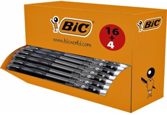 Bic gelroller Gel-ocity, doos van 20 stuks (16 + 4 GRATIS), zwart