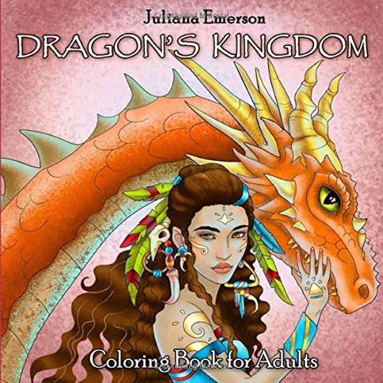 Afbeelding van Dragon's Kingdom Coloring Book for Adults (Mystic World, Band 4)