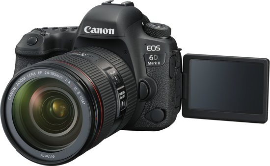 Canon EOS 6D Mark II + 24-105mm STM - Zwart