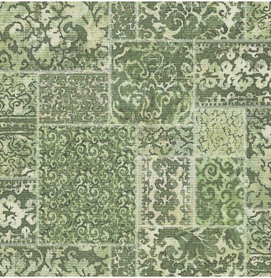 bol.com | Restored Vintage Carpet groen behang (vliesbehang, groen)
