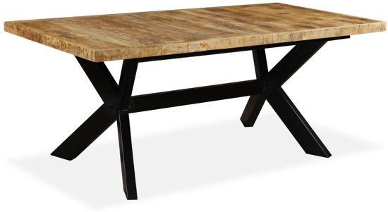 Tafel Stalen Poten : Tafel echo heeft een massief houten blad en stoere stalen poten