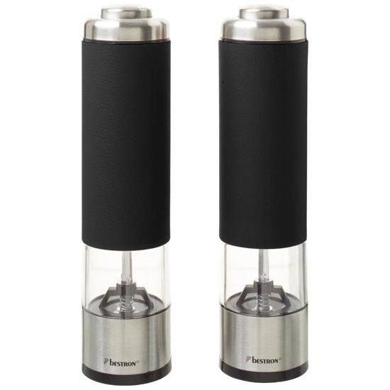 Bestron APS526Z - Elektrische Peper- & Zoutmolen  - Zwart