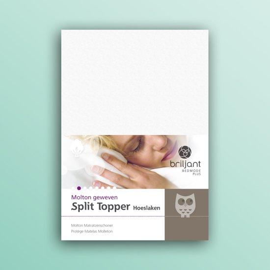 Briljant - Split topper molton met split - 180x200 - 100% katoen