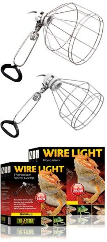 Exo Terra draadlamp porseleinen fitting tot 150w S