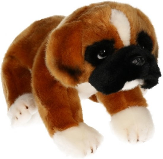 b37194e043e60d bol.com | Pluche Boxer hond knuffel 28 cm, Merkloos | Speelgoed