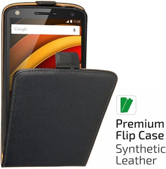 qMust Motorola Moto X Force Elegant flip case - Black in Florennes