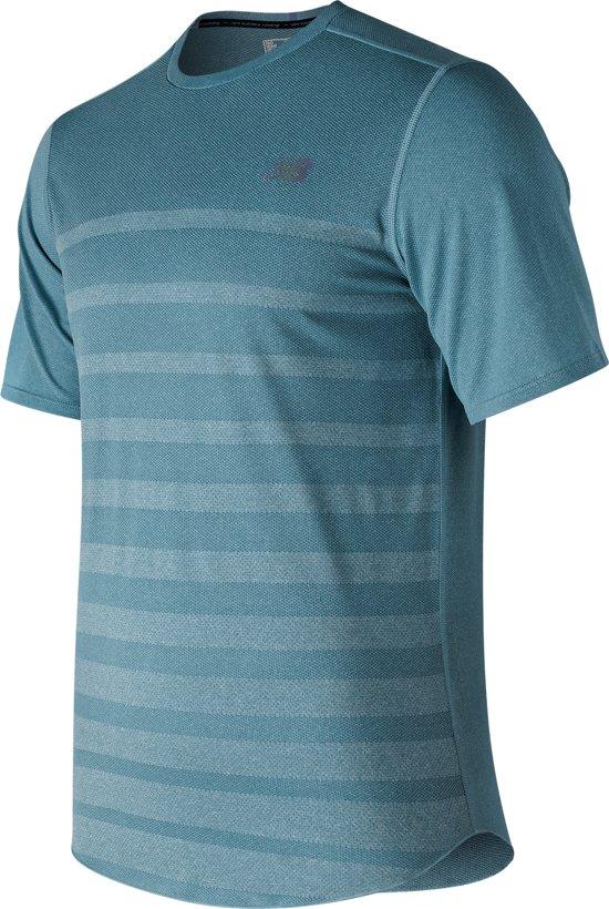 New Balance Q Speed Jacq Ss Sportshirt Heren - Blue