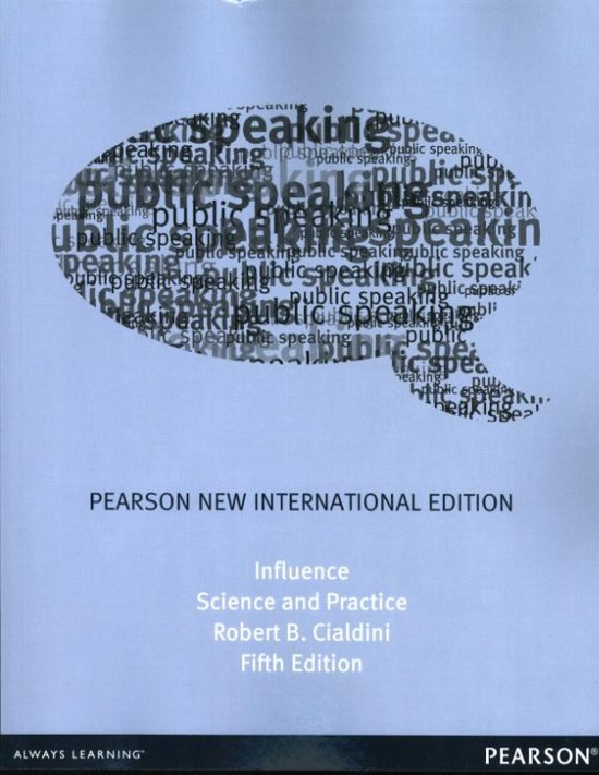 Boek cover Influence: Pearson  International Edition van Robert B. Cialdini (Paperback)