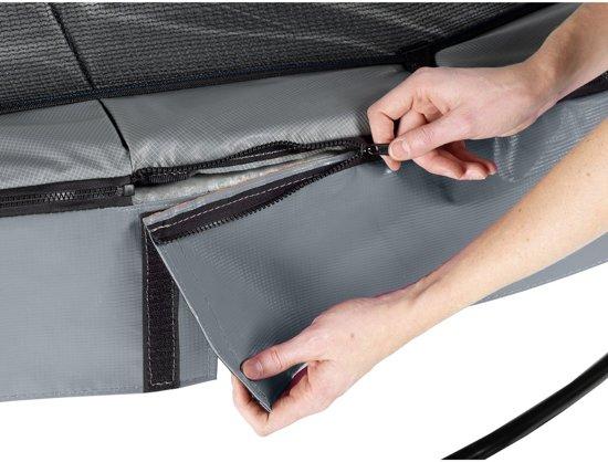 EXIT Elegant Premium trampoline ø427cm met veiligheidsnet Deluxe - grijs