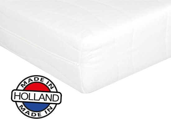 Comfort Matras 90x200 x17cm -Polyether SG25-Anti-allergische wasbare hoes met rits.