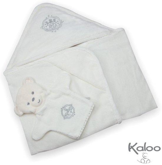 Kaloo Perle - badhanddoek creme met washandje
