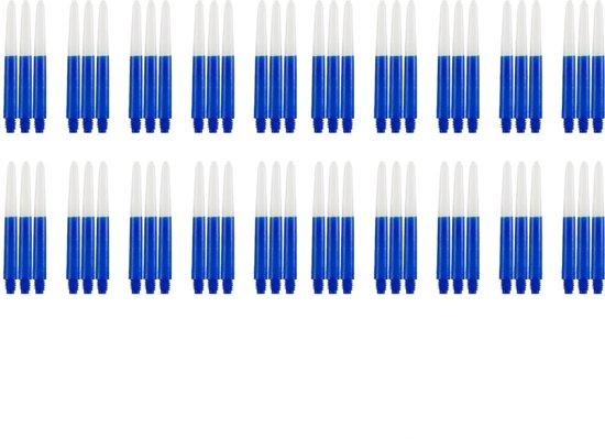 Dragon darts - Two Tone Blauw - Medium - dart shafts - multipack 20 sets - darts shafts