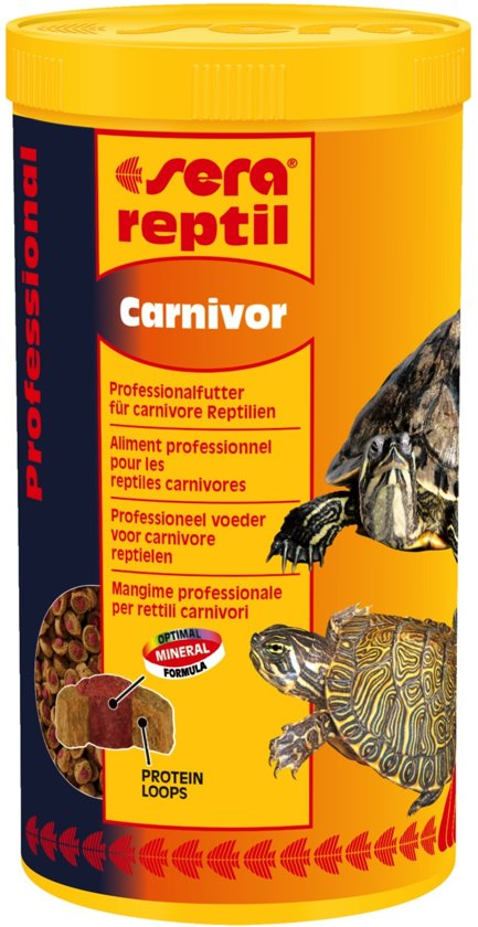 Sera reptiel schildpadvoer Carnivor 1000ml