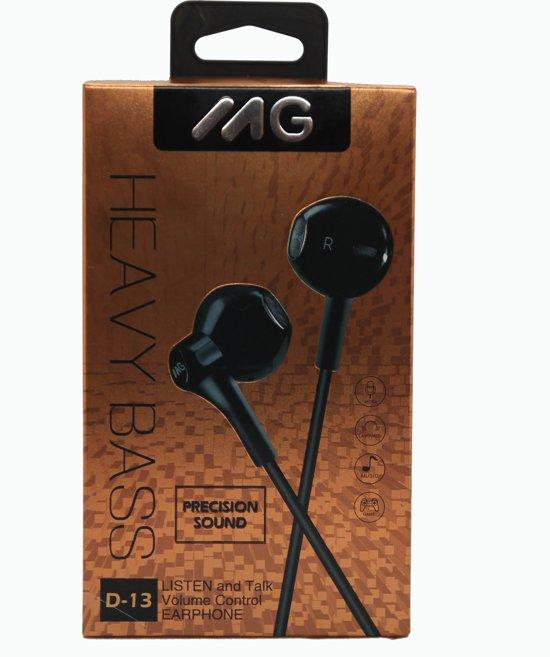 MG In-ear koptelefoon D13- ZWART