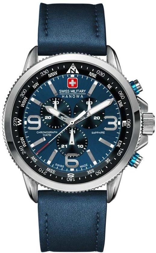 Swiss Military Hanowa 06-4224.04.003 horloge heren - blauw - edelstaal