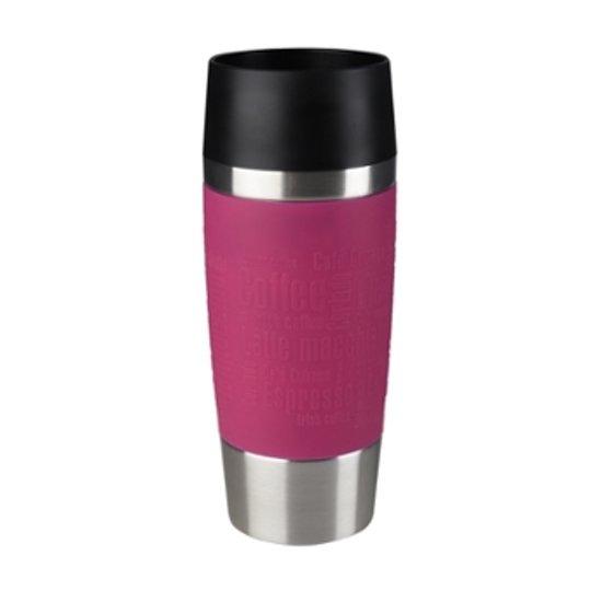 Tefal Travel Mug Thermos beker - 360 ml - RVS/Raspberry