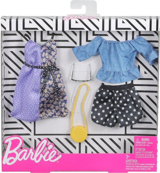 Barbie Kledingsetje Short en Jurkje - Set van 2 Outfits