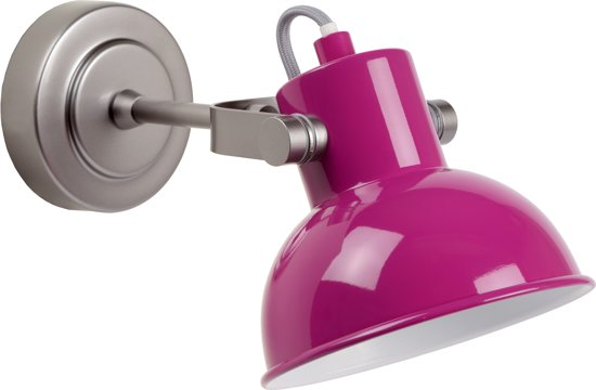 Lamp Kinderkamer Paars : Bol.com lucide wimpy wandlamp kinderkamer paars