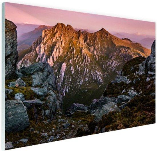 Berg Orion Australie Glas 90x60 cm - Foto print op Glas (Plexiglas wanddecoratie)