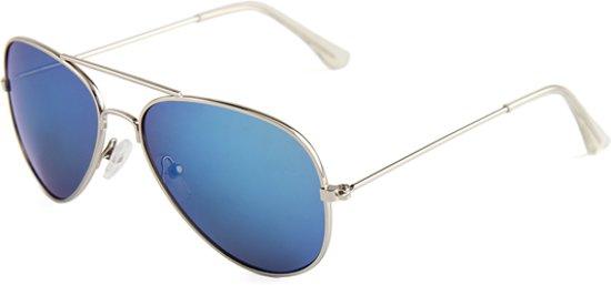 5337a13b582973 Kinder Pilotenbril   Aviator Blauw Spiegel