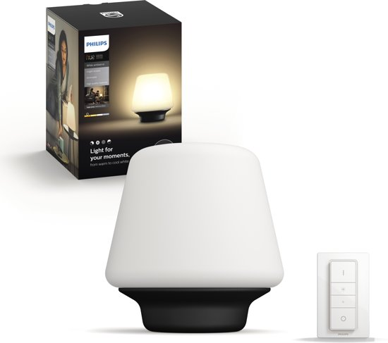 Philips Hue White Ambiance - Wellness - Tafellamp - Zwart