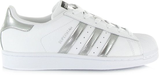 adidas superstars zilver wit