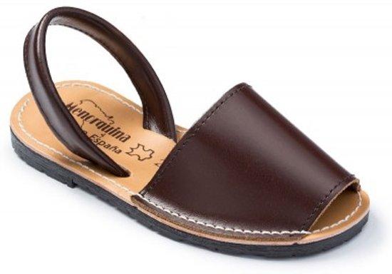 Menorquina-espagnol-sandales-avarca Taille Du Modèle De Base De L'enfant Brun 28 8ukWhCDtW