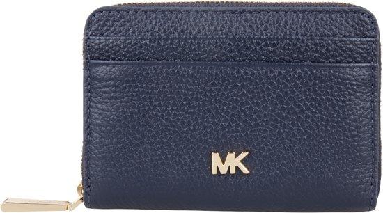 Portemonnee Dames Mk.Bol Com Michael Kors Portemonnees Mercer Zip Around Card Case Blauw