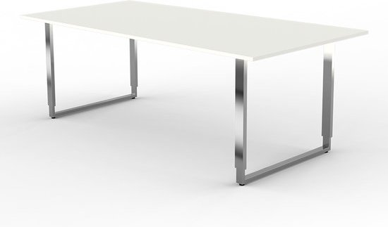 Bol.com eettafel alpha wit hoge tafel hoogte verstelbaar
