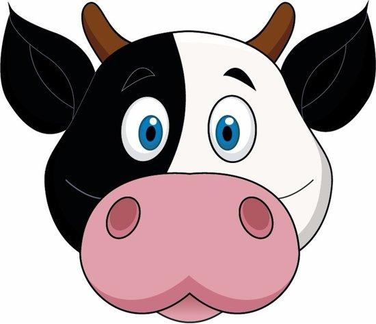 Kartonnen koeien masker voor kinderen - gezichtsmaskers