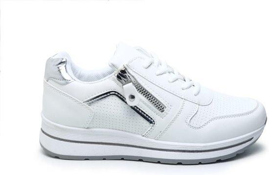 dames sneakers zwart met rits