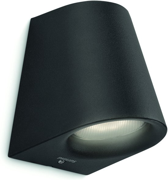 Philips Virga wall lantern black 1x3W SELV