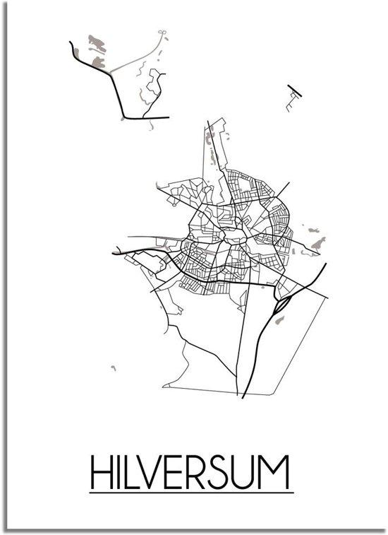 DesignClaud Hilversum Plattegrond poster B2 poster zonder fotolijst