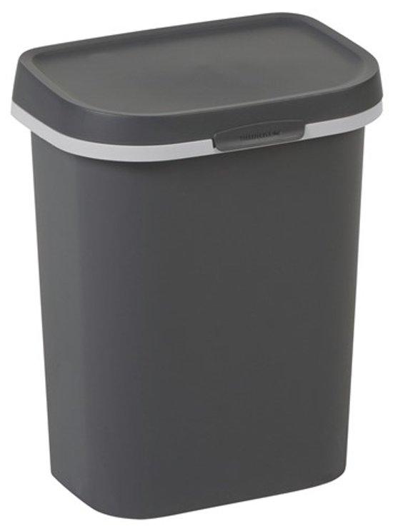 Allibert vuilnisbak 'Mistral Flat' kunststof antraciet 10 L