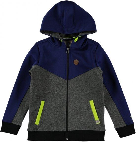 Top bol.com | Retour Jongens vest jongen blauw grijs - Maat 104 #BL61