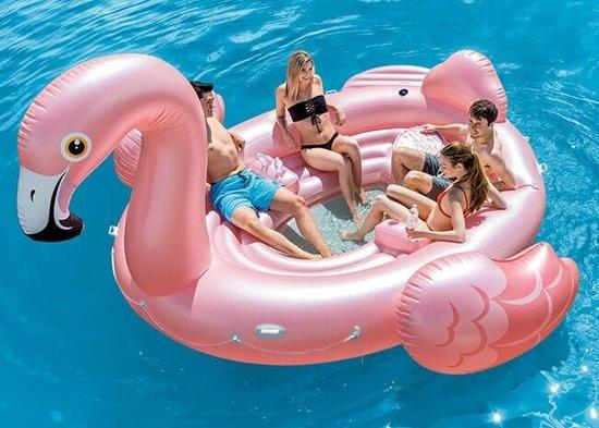 Intex Mega Flamingo Lounge-eiland max. 6 personen (met reparatiesetje)