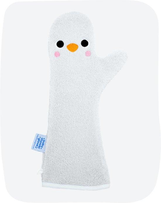 Baby Shower Glove pinguïn blauw