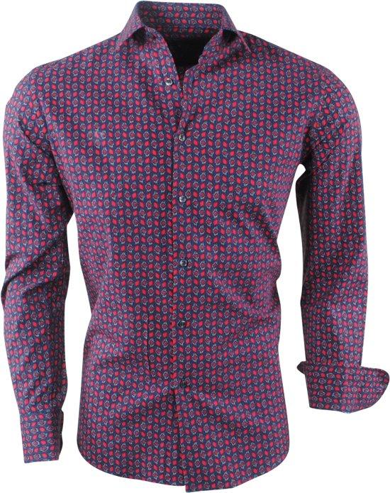 Overhemd PaulsenHeren Jan Met Design Trendy Stretch Navy 1JcuTlF3K