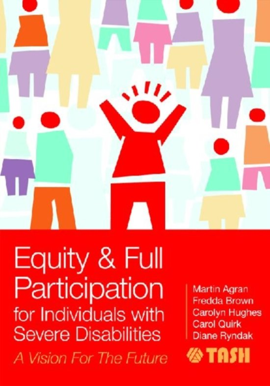 Boek cover Equity & Full Participation for Individuals with Severe Disabilities van Christine Bigby B.A. (Hons), M (Paperback)