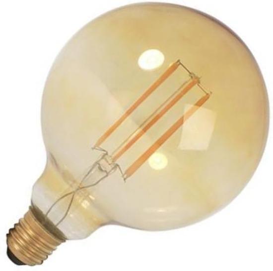 Globelamp LED filament goud 4W (vervangt 40W) grote fitting E27 125mm tronic